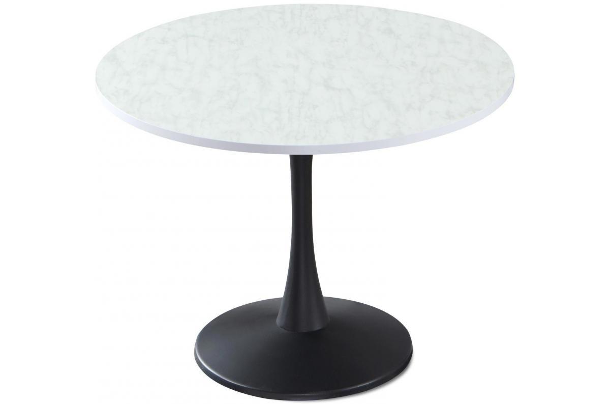 Table Ronde Noir Et Effet Marbre Ombrello Plus D'infos tout Table Salle A Manger En Marbre
