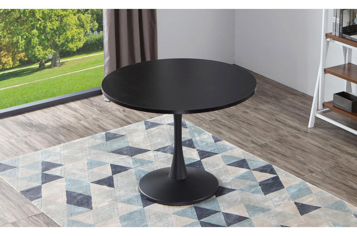 Table Ronde Noire Jazmi Plus D'infos dedans Table Salle À Manger Design Pas Cher