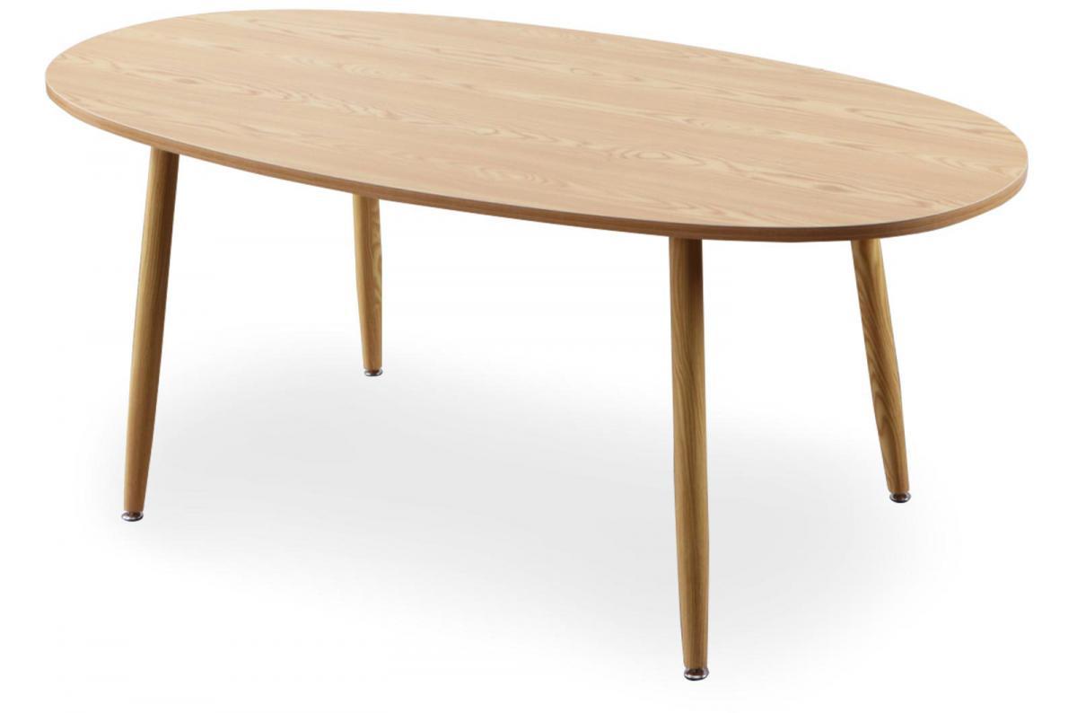 Table Scandinave Ovale Beige Noelle Plus D'infos dedans Table Salle À Manger Design Pas Cher
