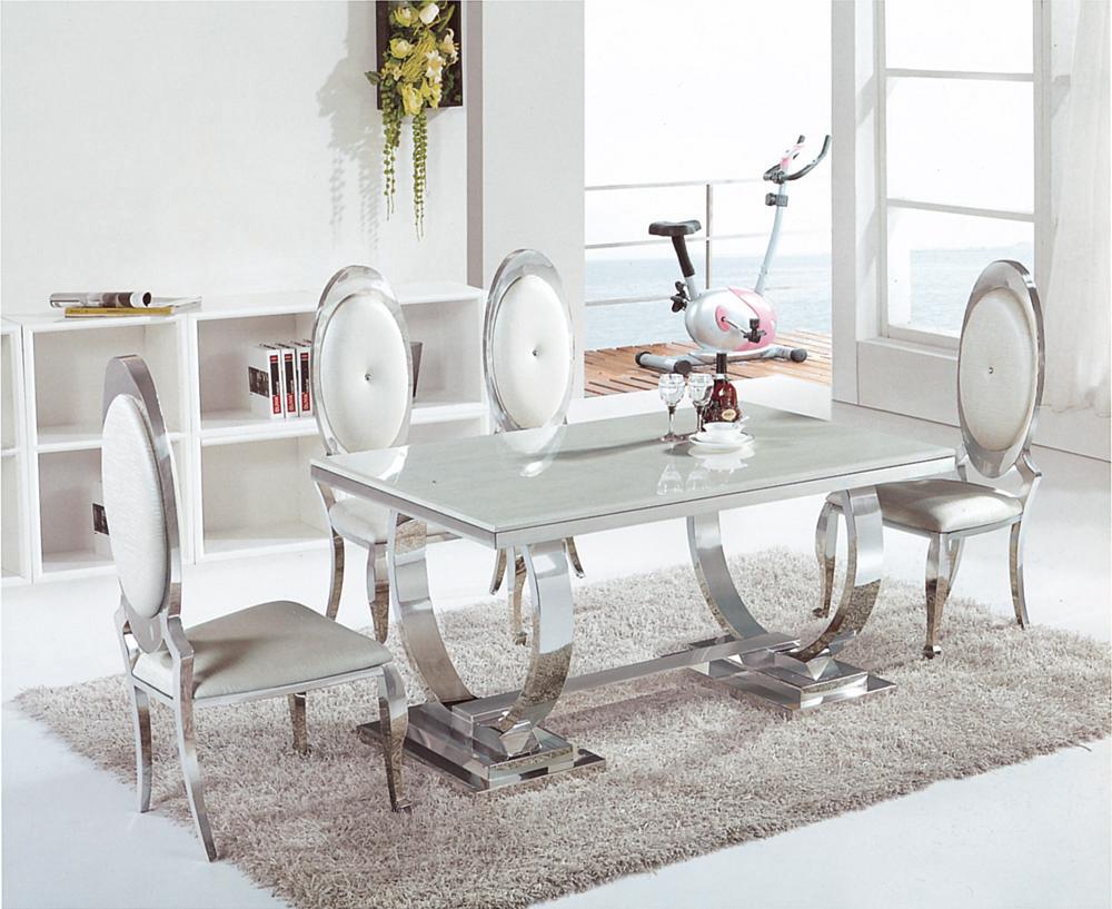 Table (Simple) Salle A Manger En Marbre 8665 (2,40M) dedans Table Salle A Manger En Marbre