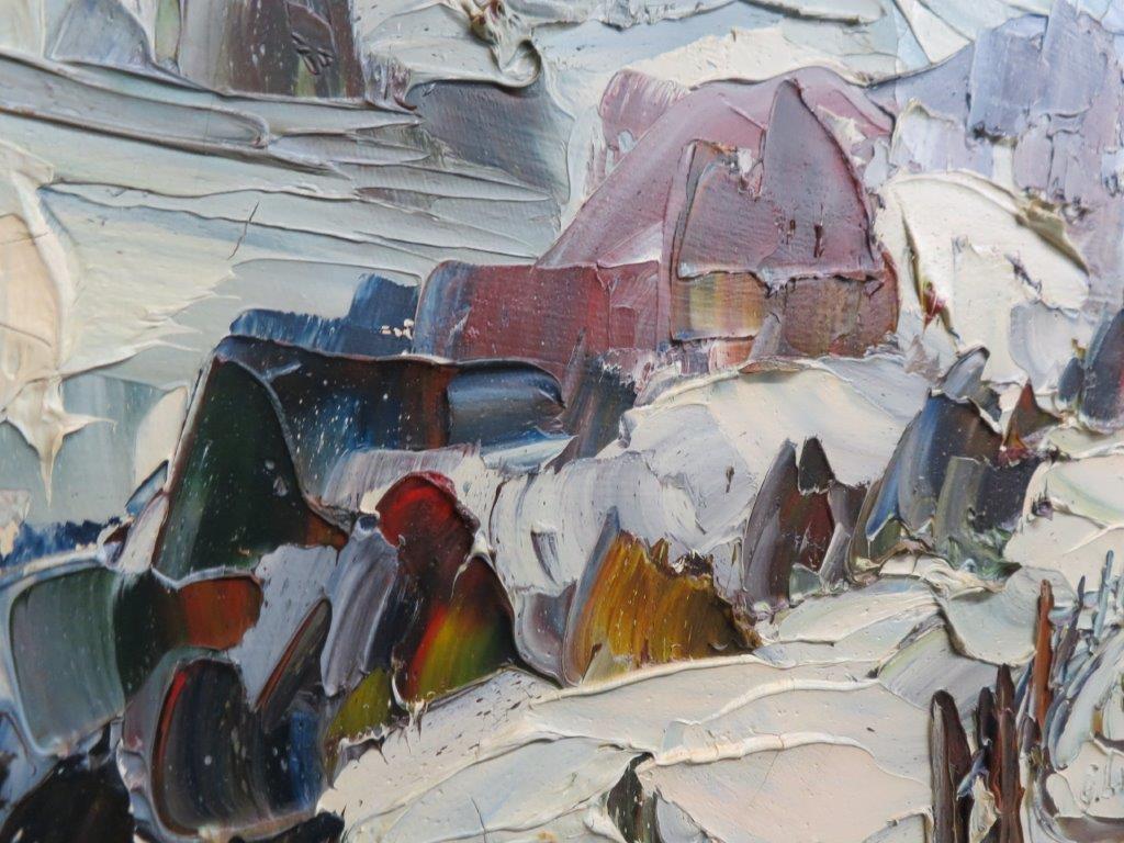 Tableau, Peinture Signée Germain Larochelle à Germain Larochelle