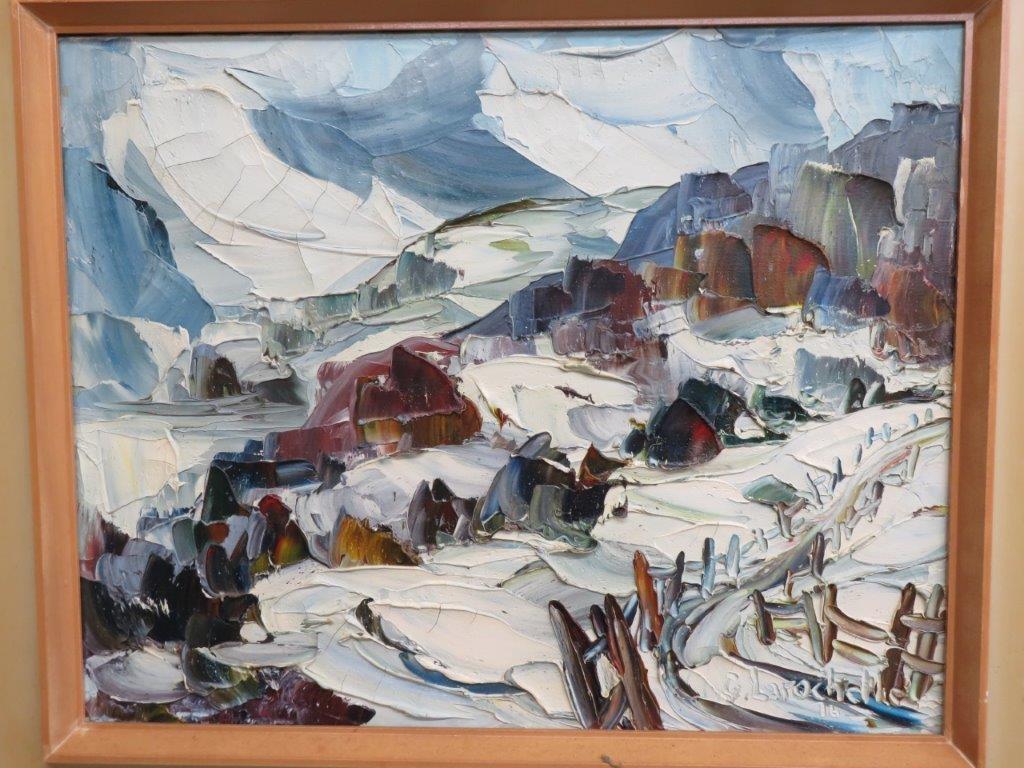 Tableau, Peinture Signée Germain Larochelle avec Germain Larochelle