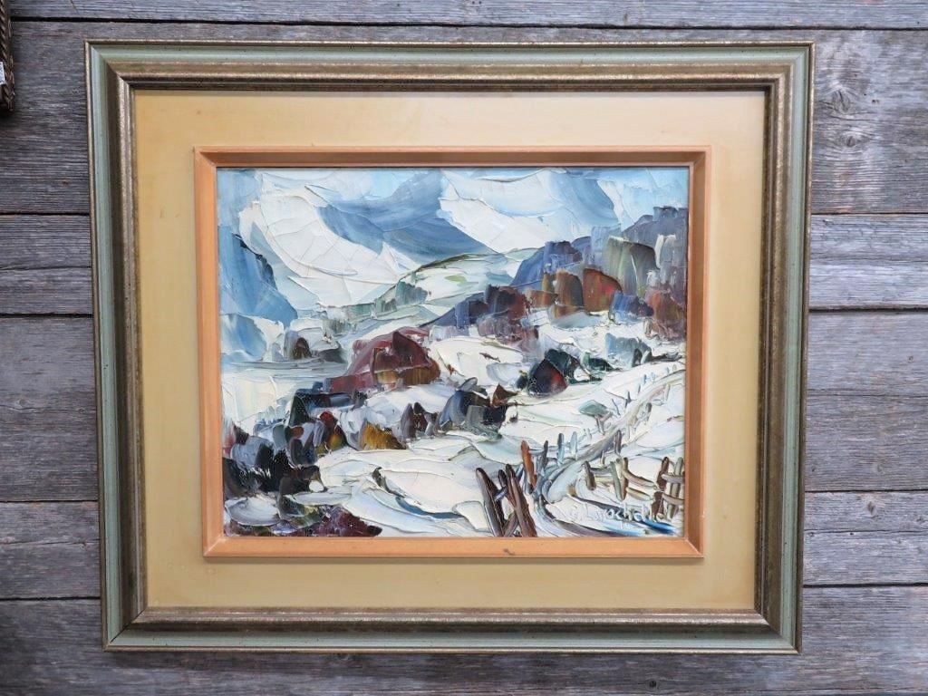 Tableau, Peinture Signée Germain Larochelle concernant Germain Larochelle