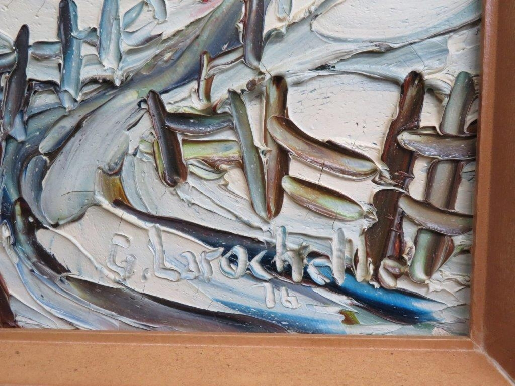 Tableau, Peinture Signée Germain Larochelle dedans Germain Larochelle