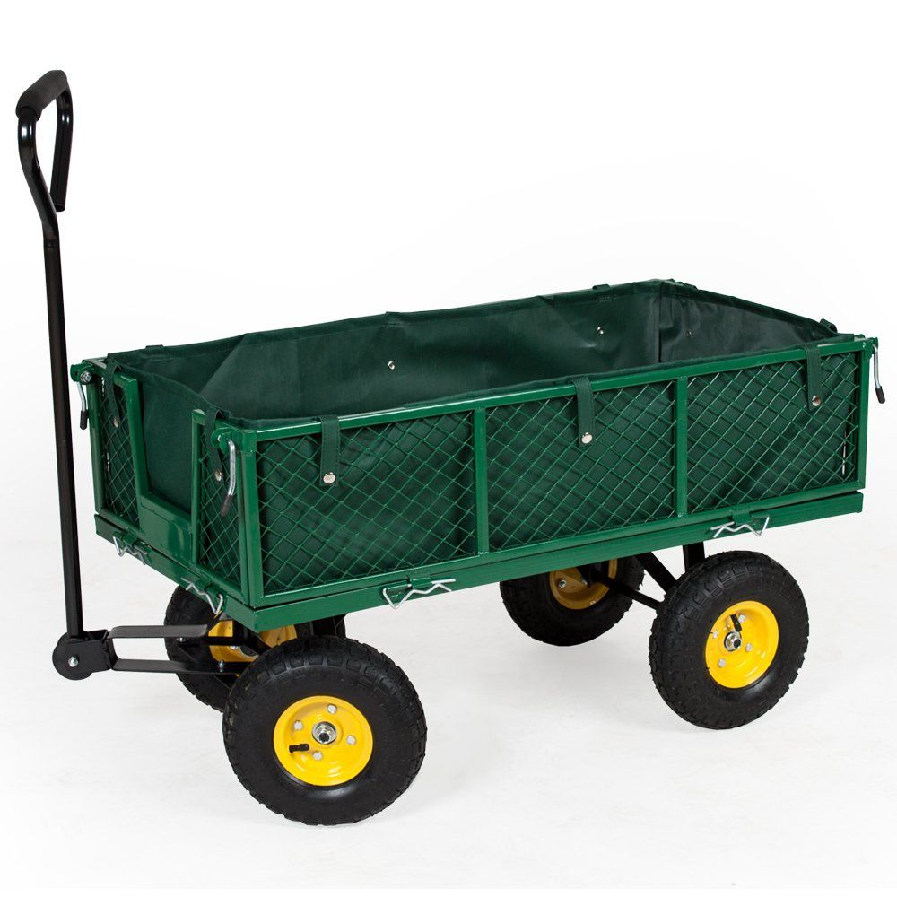 Tectake Chariot De Transport Jardin Remorque À Main tout Charrette De Jardin