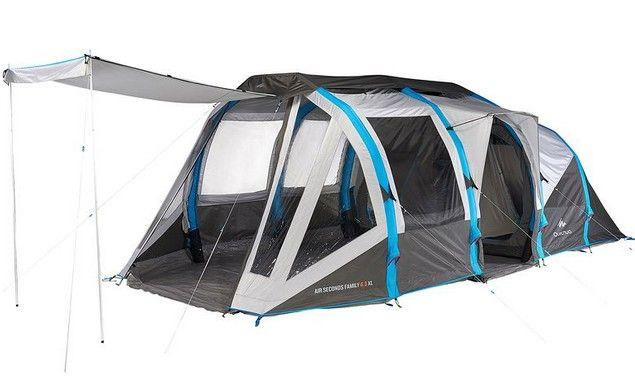 Tente Air Seconds Family 6.3 Xl - 2 Chambres De 2 + 1 Ch pour Tente 6 Places 3 Chambres