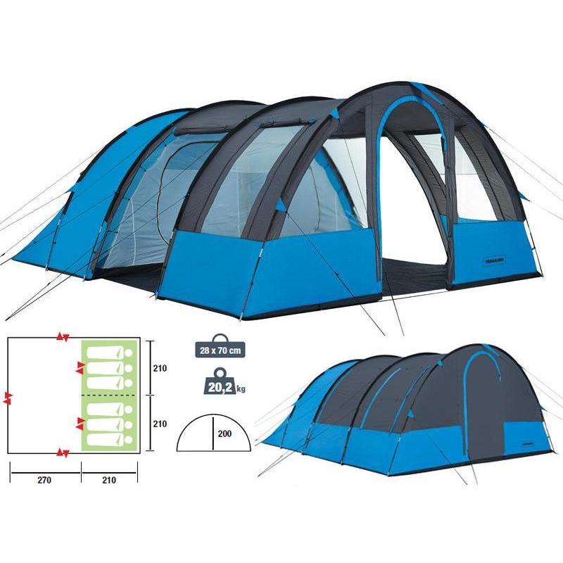Tente Dome Familiale Trigano Ontario 6P pour Tente 6 Places 3 Chambres