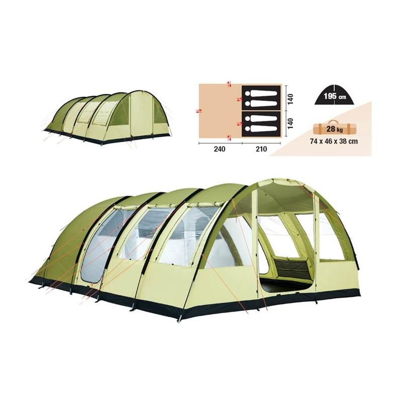 Tente Dome - Mundu.fr concernant Tente 6 Places 3 Chambres