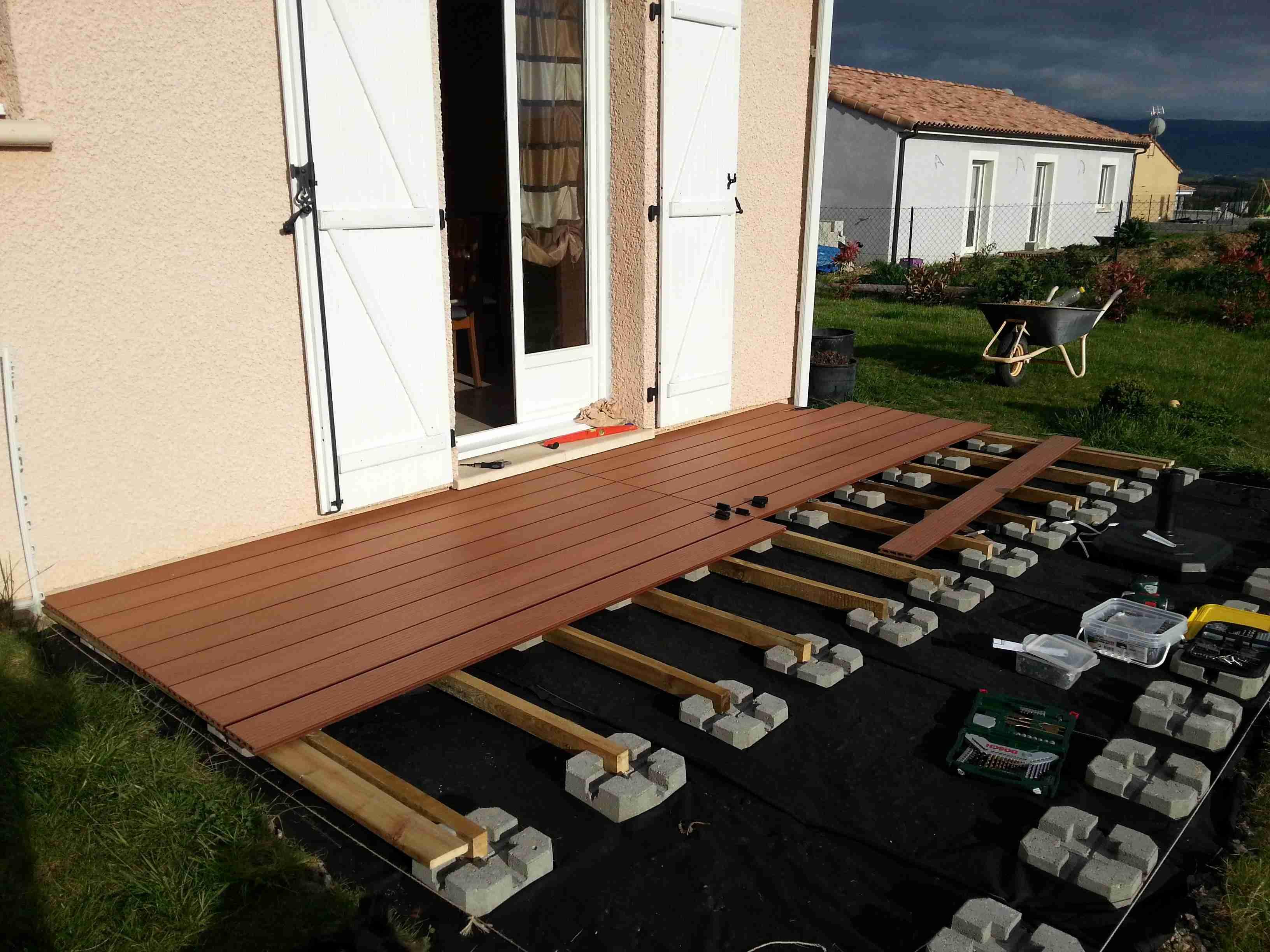 Terrasse Bois Ou Composite Prix - Mailleraye.fr Jardin destiné Plot Pvc Pour Terrasse Bois Brico Depot