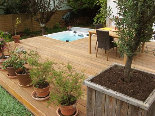 Terrasse Bois Spa - Nos Conseils concernant Aménager Un Coin Spa Dans Le Jardin