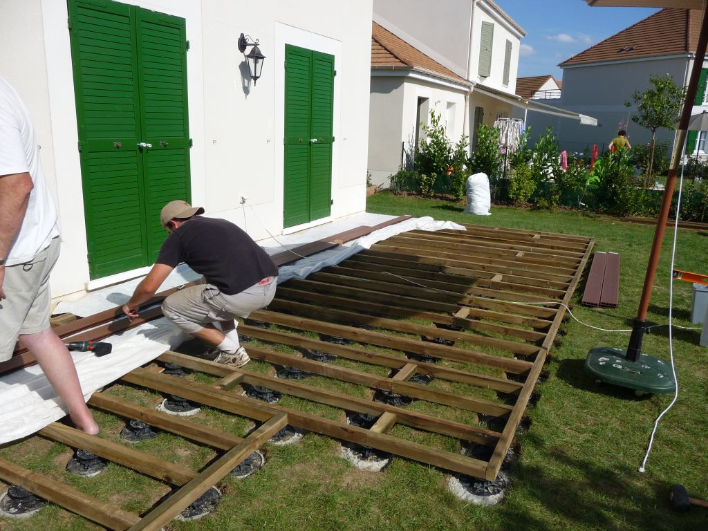 Terrasse Composite Sur Plot Pvc - 6 Messages destiné Plot Pour Terrasse Bois Brico Depot
