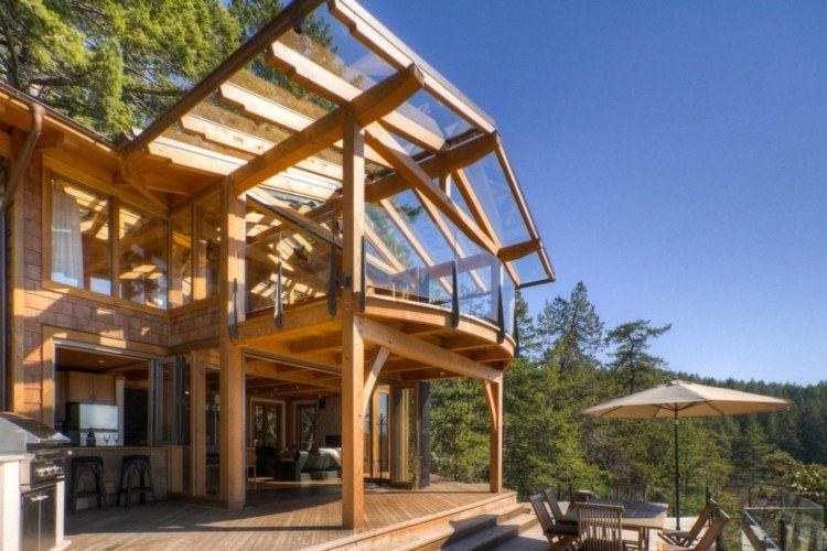 Terrasse Couverte - Auvent Terrasse Ou Pergola Pour intérieur Terrasse Couverte Bois