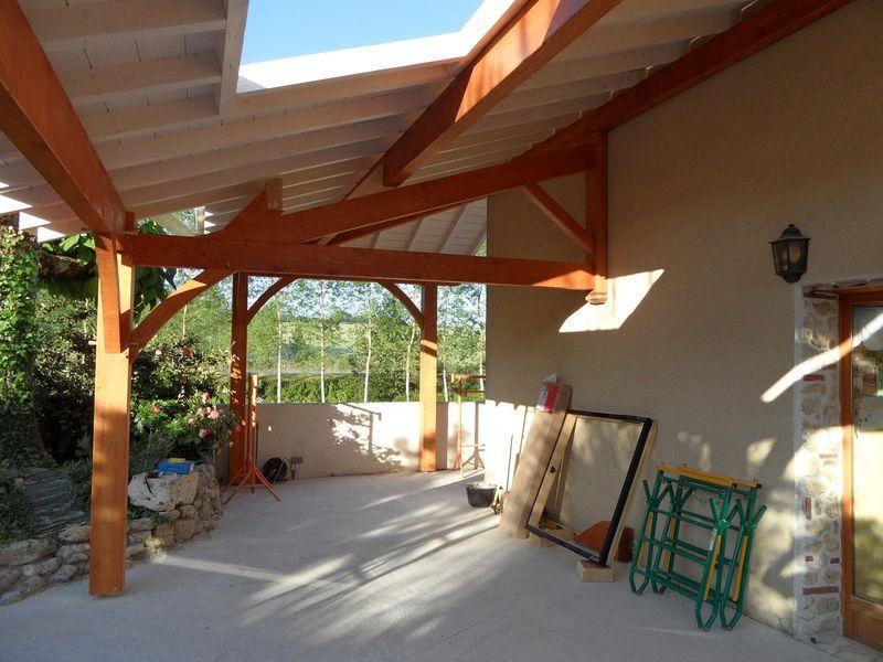 Terrasse Couverte | Terrasse Couverte, Terrasse Et concernant Auvent Terrasse Bois