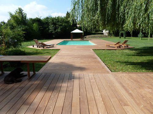 Terrasse En Bois 78 Yvelines Ipe Extra Large - France intérieur Spot Terrasse Piscine