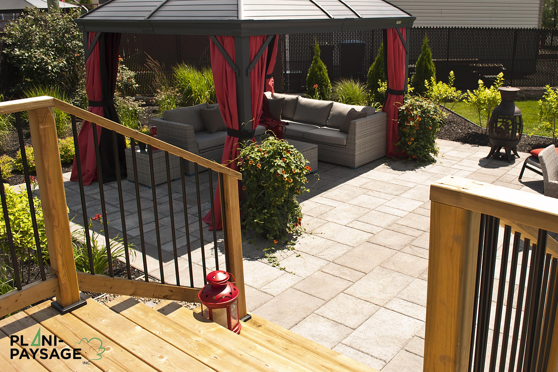 Terrasse En Bois Sur Patio En Dalle avec Modele Terrasse