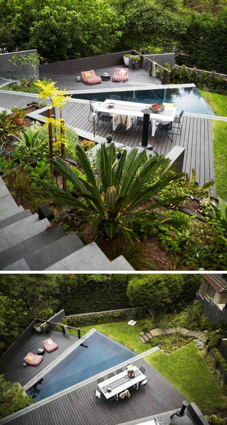 Terrasse Sur Terrain En Pente En 10 Idées D'Aménagement à Pente Toiture Terrasse