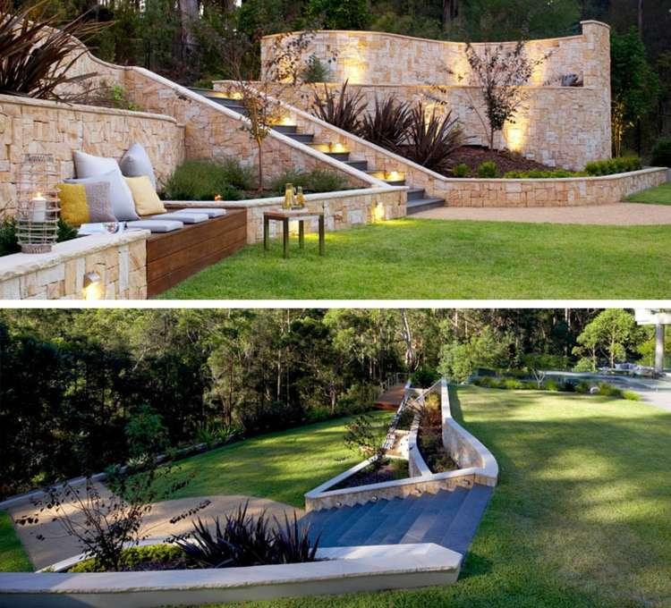 Terrasse Sur Terrain En Pente En 10 Idées D'Aménagement dedans Amenagement Piscine Terrain En Pente