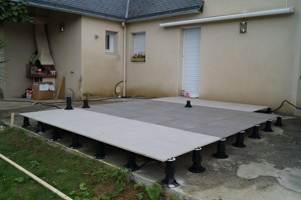 Terrasses & Parquets – Terrasse Carrelage Sur Plotsweb dedans Plot Pvc Pour Terrasse Bois Brico Depot