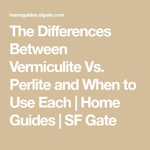 The Differences Between Vermiculite Vs. Perlite And When dedans Vermiculite Jardin