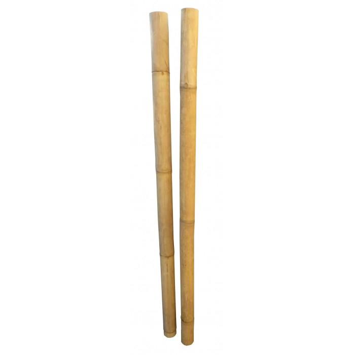 Tige Bambou Déco Jaune Diamètre 6 / 8 Cm pour Statue Moaï 1M