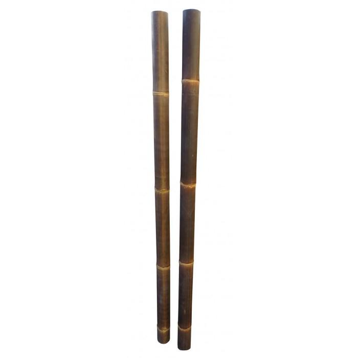 Tige Bambou Déco Noir Diamètre 6 / 8 Cm à Statue Moaï 1M
