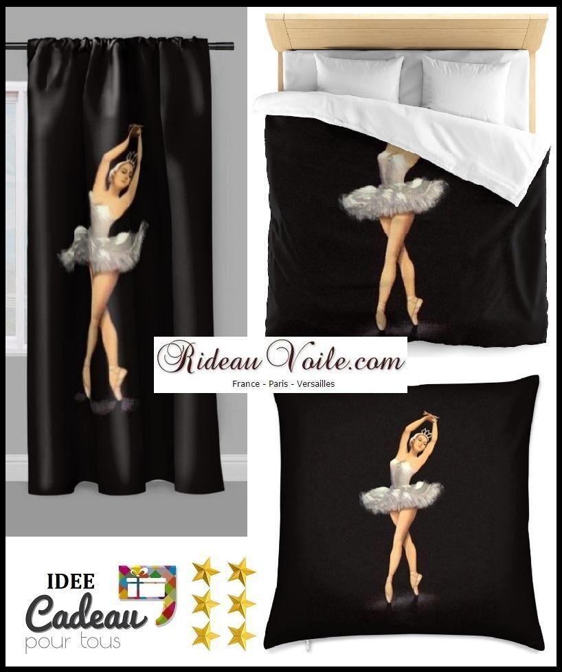 Tissu Au Mètre Motif Danseuse Classique Étoile Ballet Lac à Voilage Chambre Fille