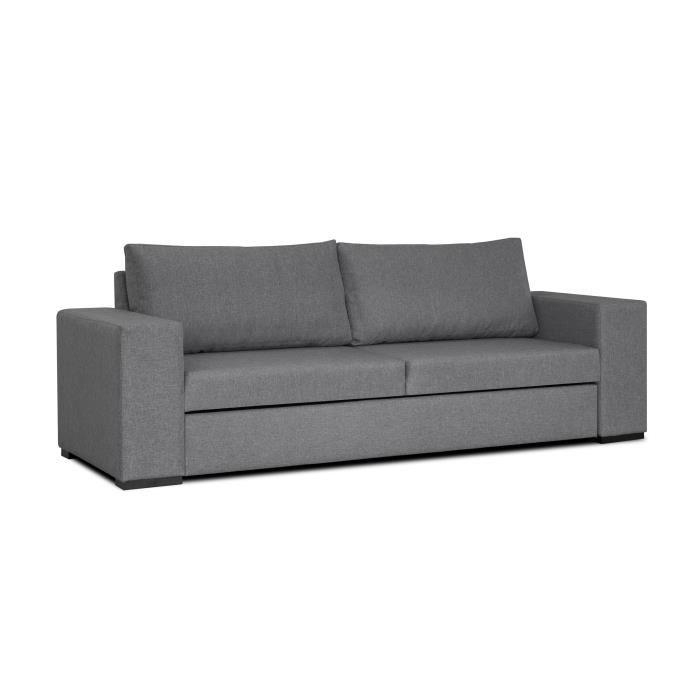 Todd Canape Droit Convertible 3 Places - 242X88X90 Cm serapportantà Sofa 3 Places
