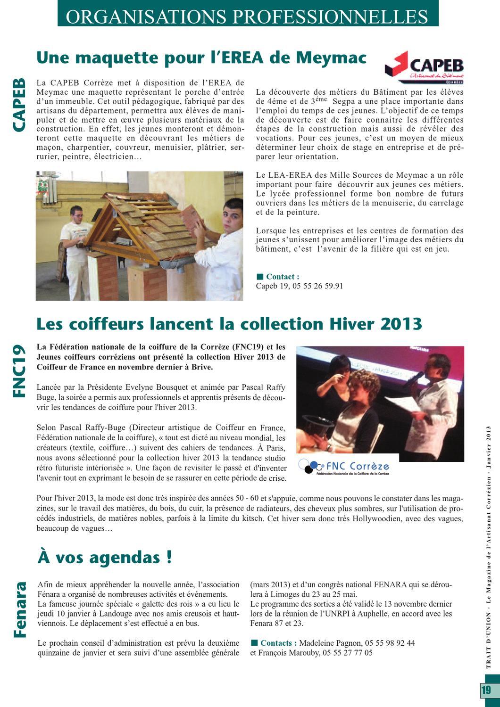Trait D'Union, Magazine De L'Artisanat En Corrèze By à Stage Chambre Des Métiers