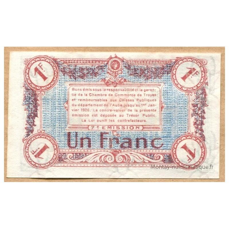 Troyes (10) 1 Franc Nd Chambre De Commerce - Montay intérieur Chambre Des Metiers Troyes