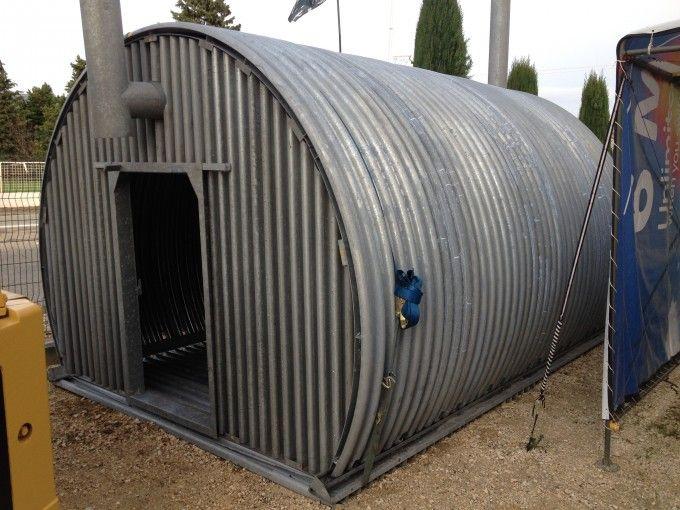 Tunnel – Abris Armée Suisse En Tôle Ondulée Cintrée | Abri destiné Abri De Jardin En Tole