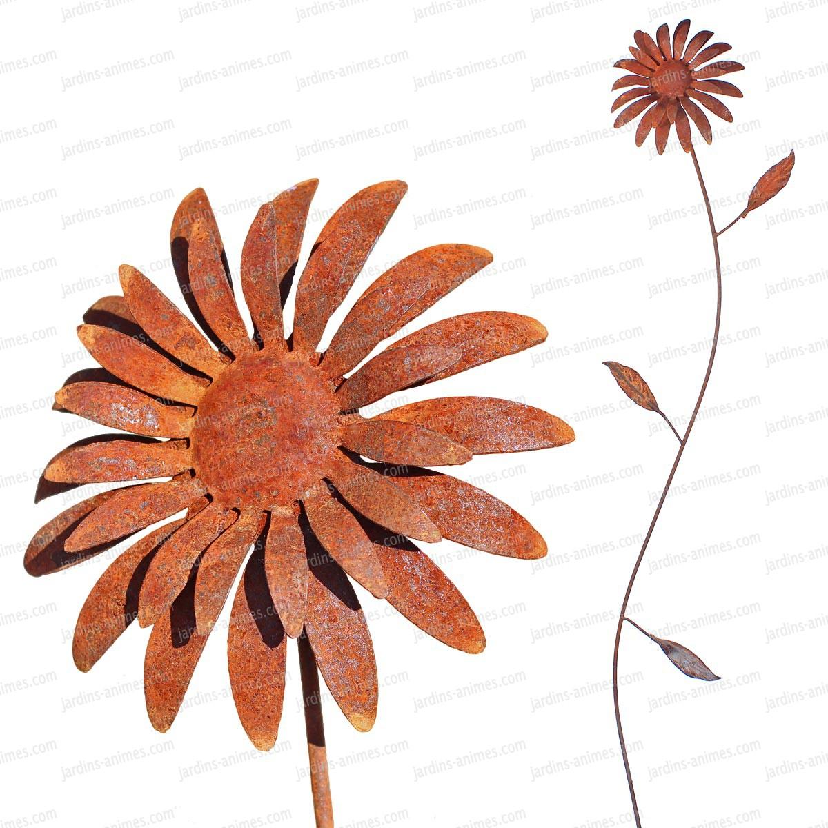 Tuteur Fleur Soleil En Fer Forgé - Tuteurs Décoratifs concernant Décoration Jardin Fer Forgé