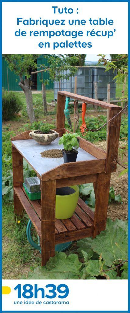 Tuto : Fabriquez Une Table De Rempotage Récup' En Palettes concernant Fabriquer Sa Table De Jardin