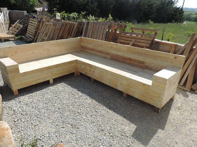 Tuto Pour Créer Un Canapé D'angle En Palettes | Les pour Fabriquer Banquette Terrasse