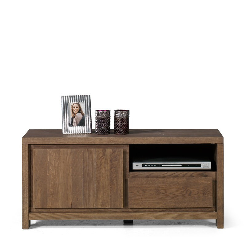 Tv Meubel Style (110Cm) - Lava/Lei, Eiken Mat Gelakt - De à Tv 110 Cm