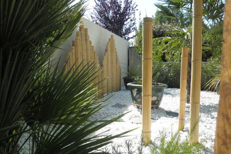 Un Jardin Japonais Facile À Entretenir Trio De Bambou intérieur Déco Jardin Bambou