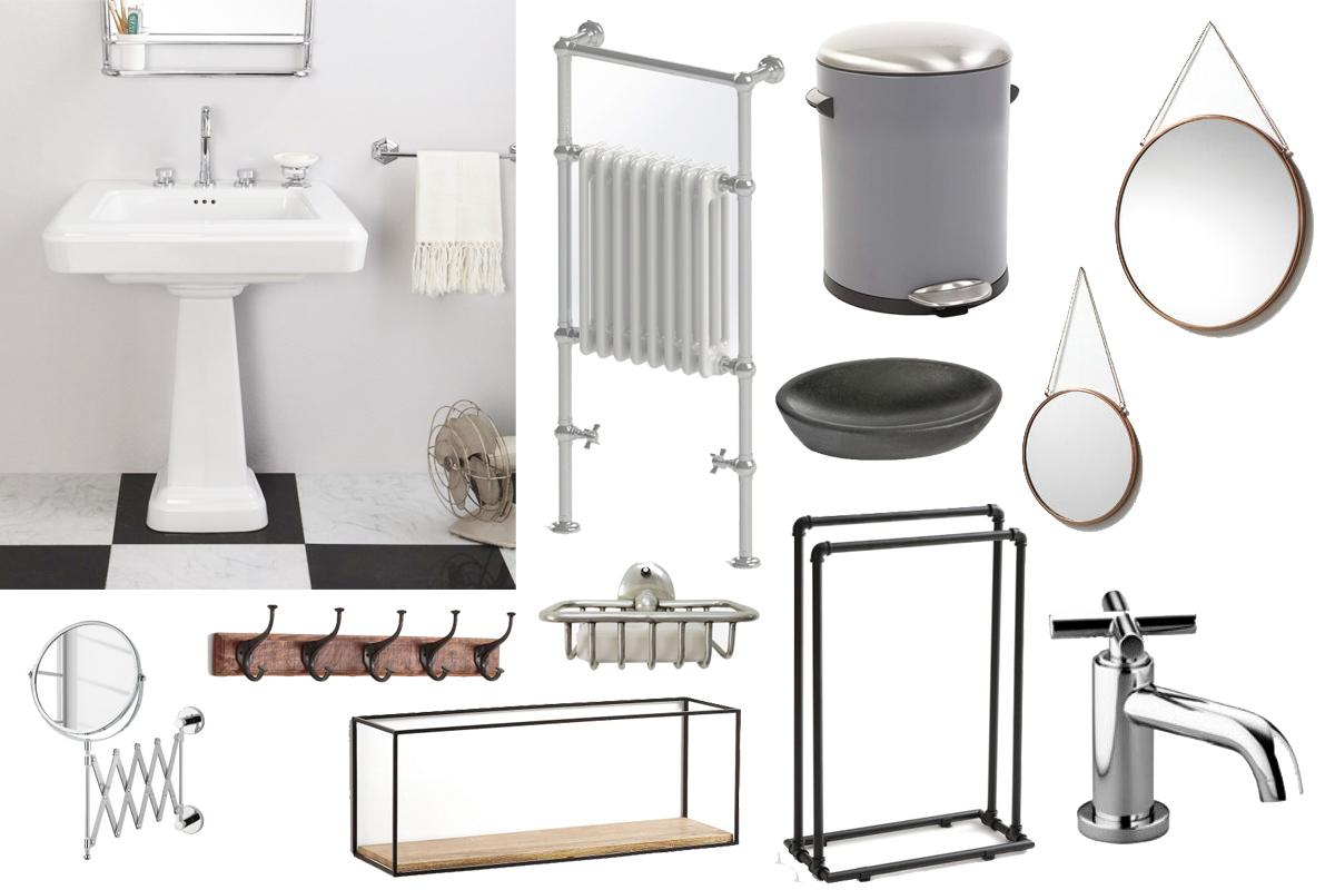 Une Ambiance Industrielle Dans La Salle De Bain | Madame Décore pour Accessoire Decoration Salle De Bain