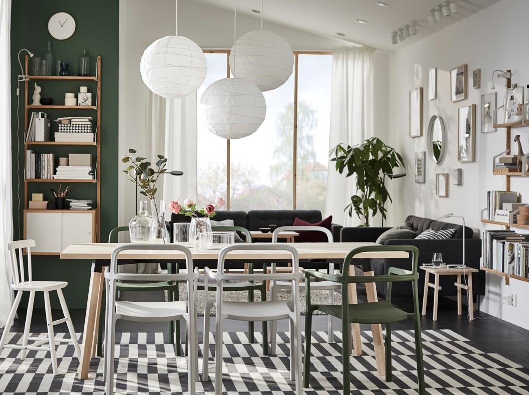 Une Salle À Manger Naturellement Scandinave - Ikea à Meuble De Salle A Manger Ikea
