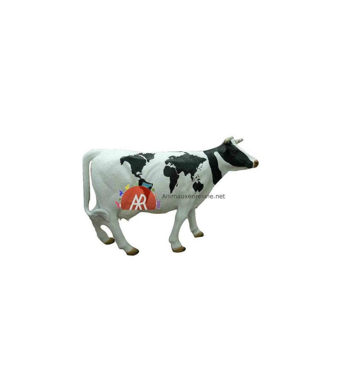 Vache Deco Jardin Mappemonde En Résine   Animauxenresine tout Nain De Jardin Fuck