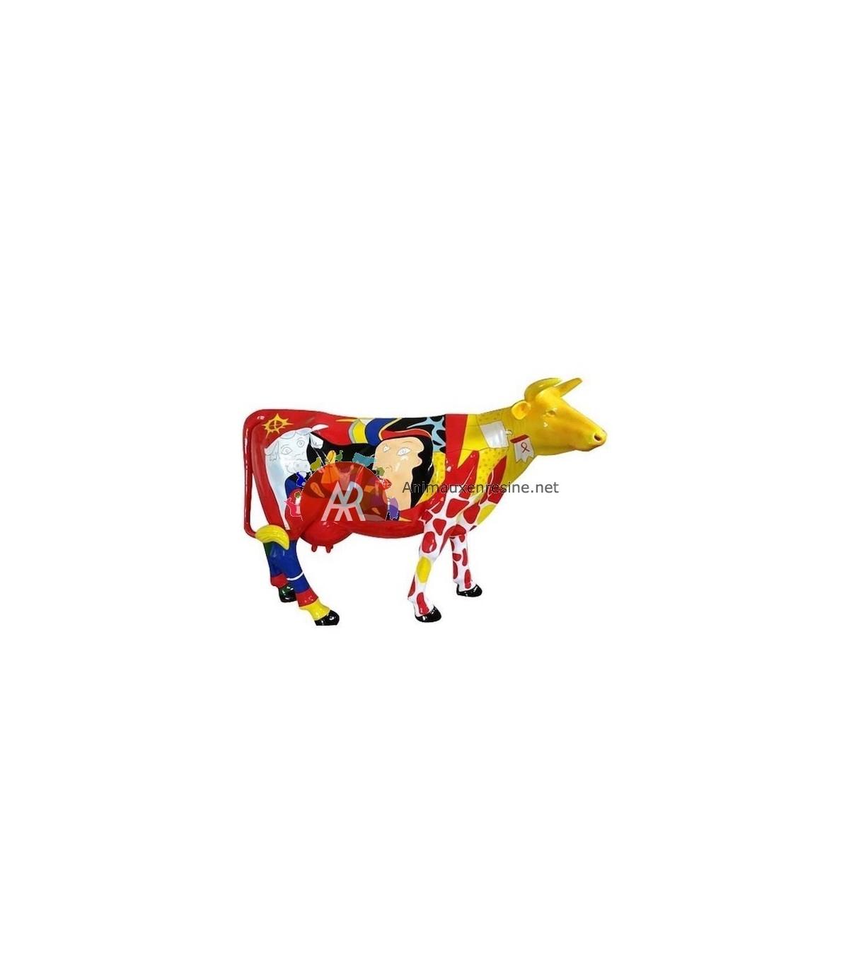 Vache En Résine Grandeur Nature Picasso Xxl En Résine concernant Nain De Jardin Fuck