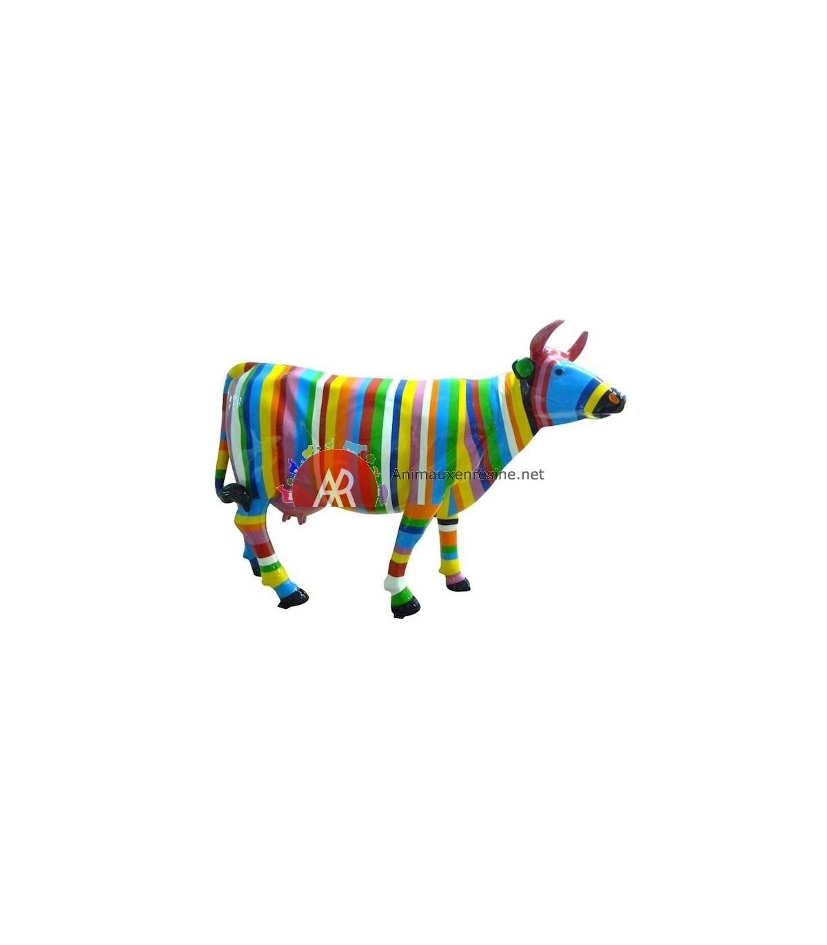 Vache En Resine Pour Jardin En Résine Multicolore Xxl dedans Nain De Jardin Fuck