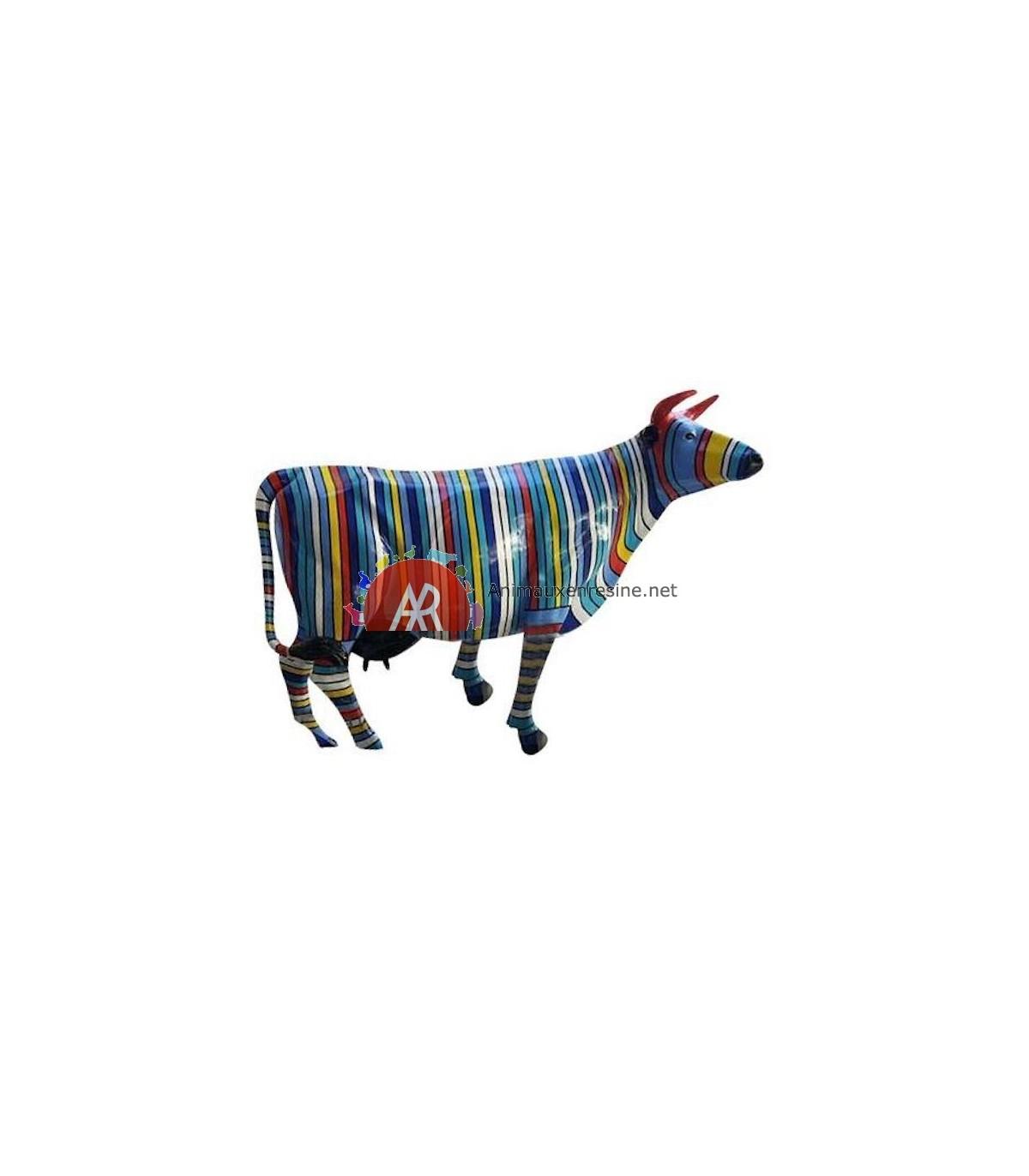 Vache En Resine Pour Jardin En Résine Multicolore Xxl destiné Nain De Jardin Fuck
