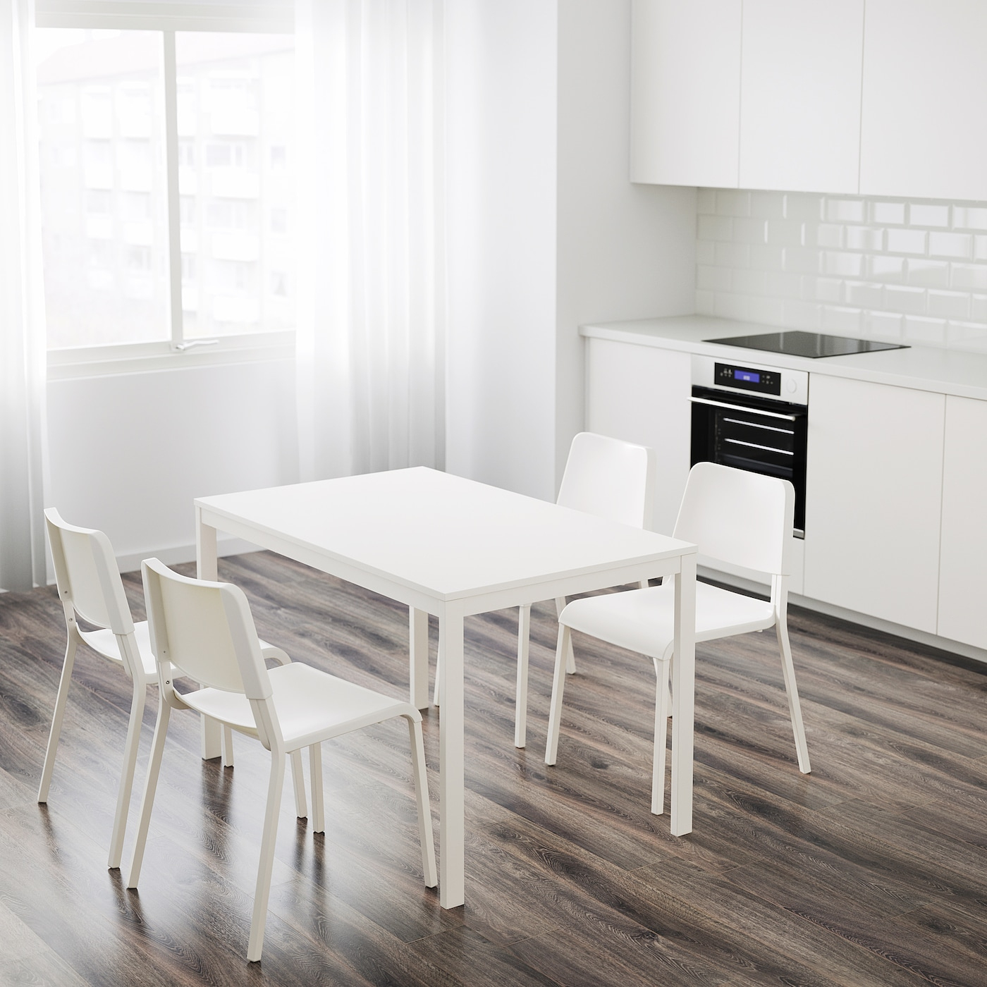 Vangsta Table Extensible - Blanc 120/180X75 Cm encequiconcerne Tables Salle À Manger Ikea