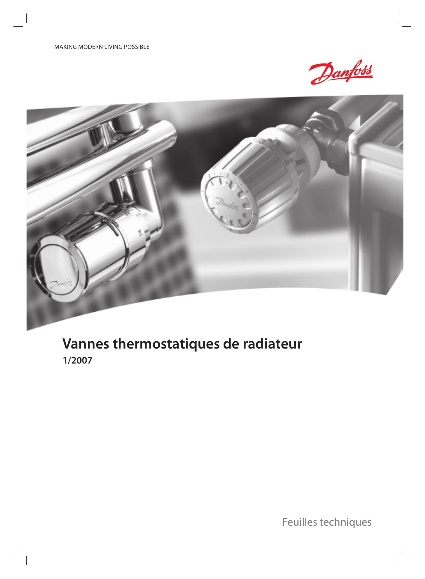Vannes Thermostatiques De Radiateur | Manualzz encequiconcerne Changer Robinet Thermostatique Sans Vidanger