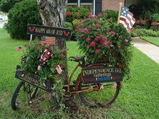 Vélo Fleuri | Deco Petit Jardin, Decoration Jardin pour Velo Deco Jardin