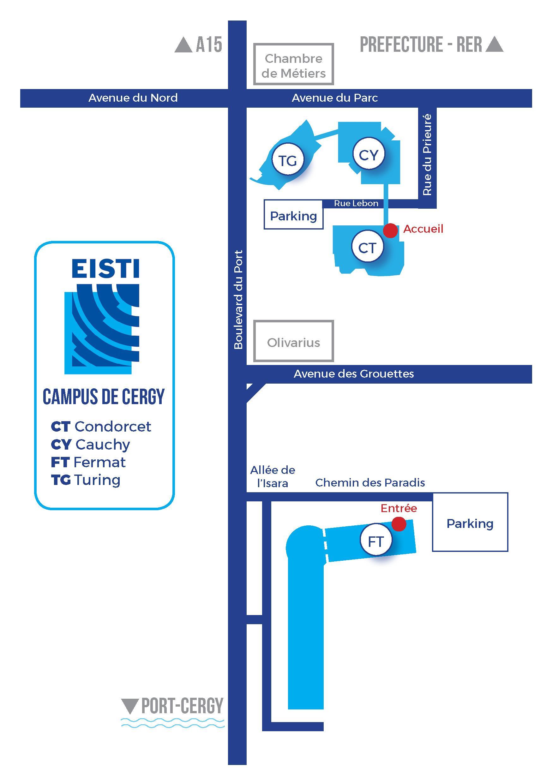 Venir À L'eisti - Campus De Cergy | Eisti à Chambre Des Metiers Cergy