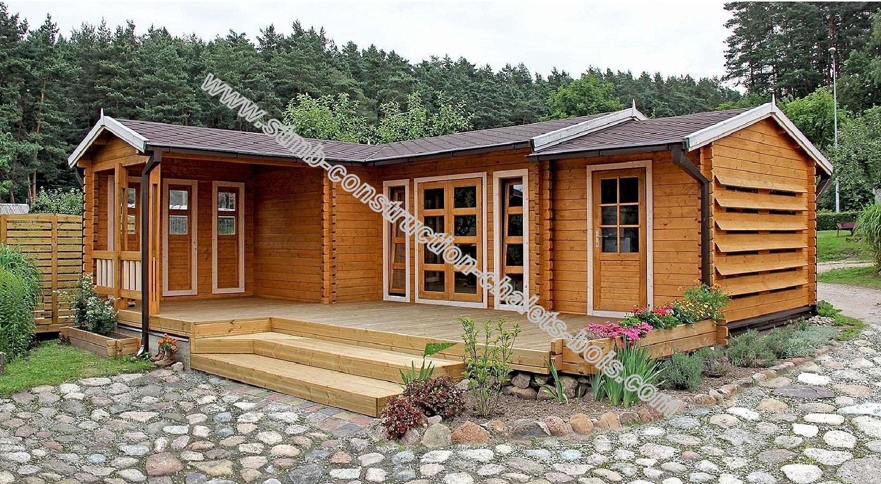 Vente De Chalet Bois En Kit - Stmb Construction Chalets Bois encequiconcerne Abri De Jardin Habitable