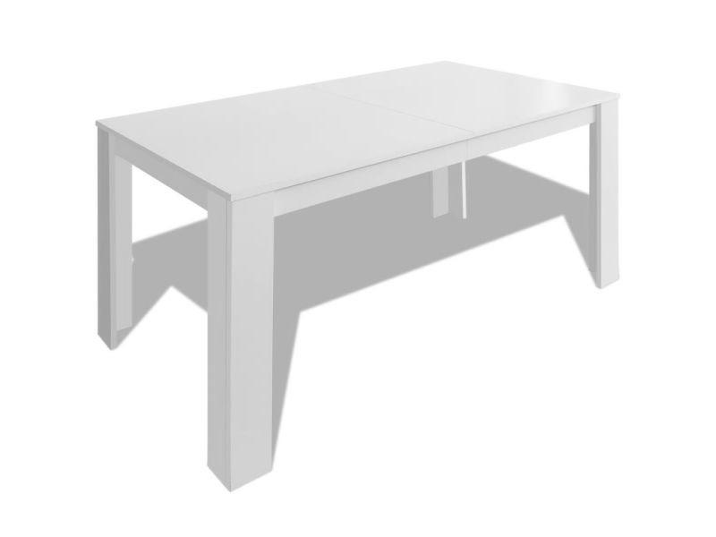Vidaxl Table De Salle À Manger 140 X 80 75 Cm Blanc 243056 pour Table Salle A Manger Conforama