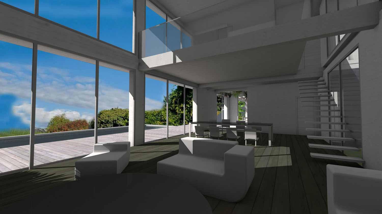 Villa D'Architecte Contemporaine Sur Terrain En Pente Avec concernant Amenagement Piscine Terrain En Pente
