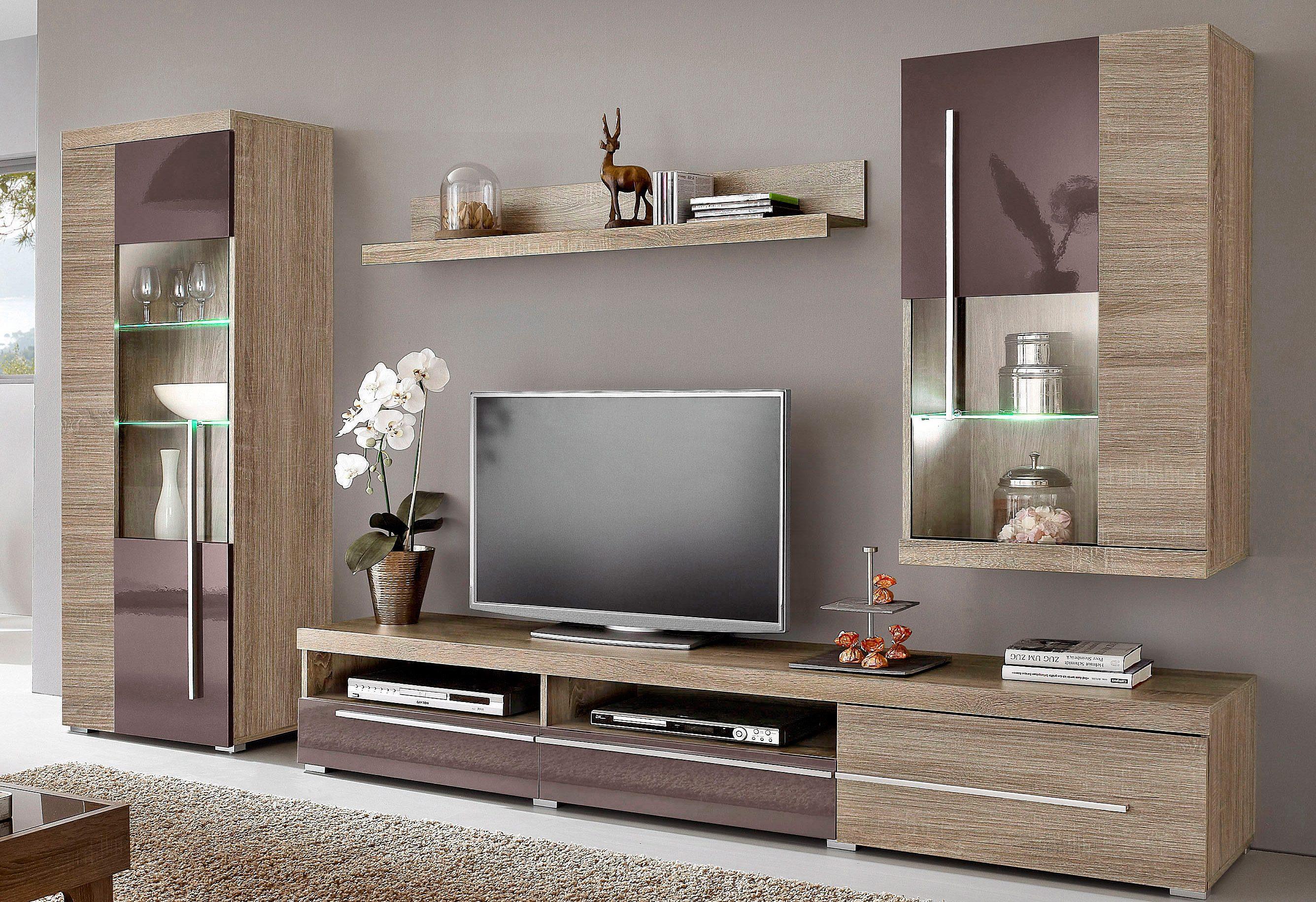 Wohnwände Online Kaufen | Möbel-Suchmaschine | Ladendirekt.de dedans Meuble Braun