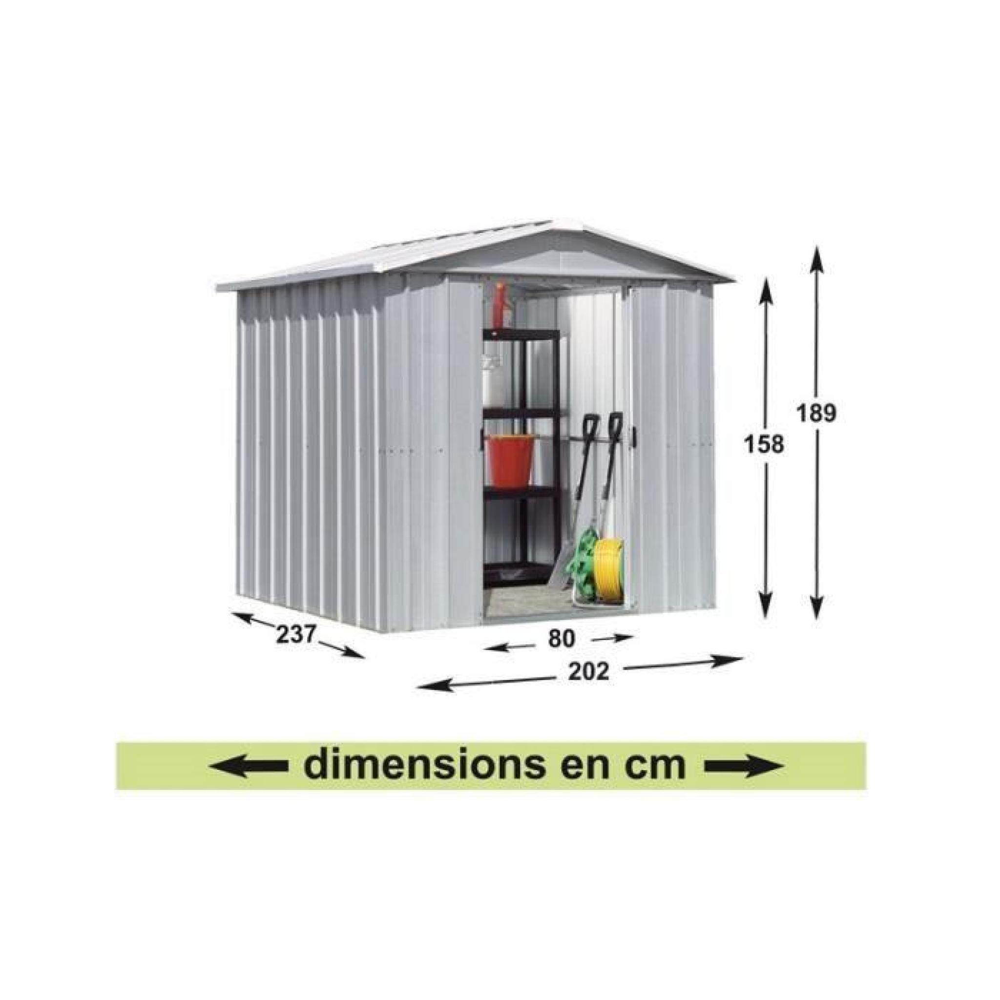 Yardmaster Abri De Jardin En Métal 4.79 M² - Achat/Vente pour Abri De Jardin Metal Pas Cher